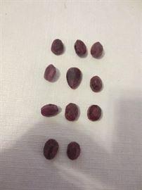 Raw-cut rubies