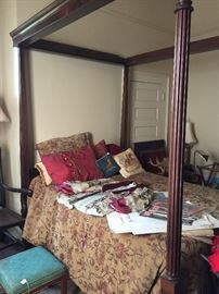 Picture was taken when bed was set up. Bed is separated for sale.