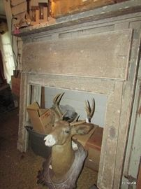 There are 3 very old deer heads...perfect for the haunted house!