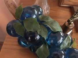 vintage glass grapes - highly sought after BLUE