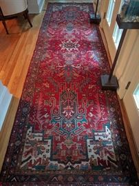 "Gorgeous hand woven, 100% wool Persian Bakhtiari runner, measures 3' 9"" x 13'."