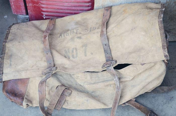 USFS leather/ canvas horse pack saddlebag