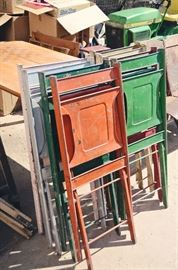 Maple City Stamping Co. Colorful Metal Folding Chairs