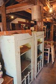 Primitive Dentist's Medicine Cabinets, Metal Farmhouse Lights