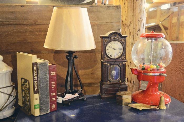 Lamps, Clocks, Gumball Machines