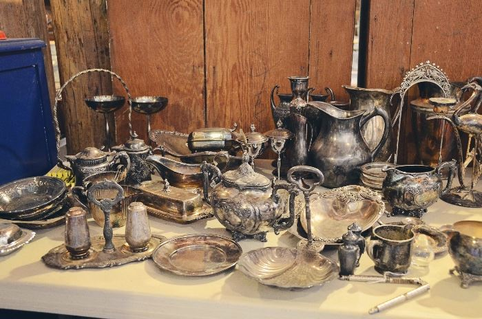 Silver-Plated Platters and Collectibles