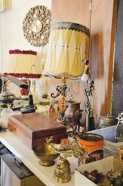 Table Lamps, Silver plated Flatware, Brass Collectibles