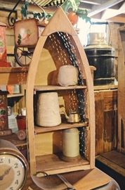 Canoe Shelf, Twine, Mantle Clock