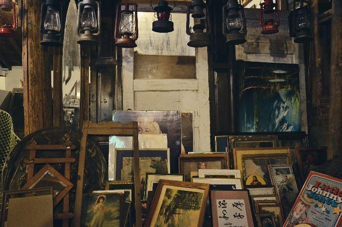 Vintage Doors, Lanterns, Framed Prints, Architectural Window Frames