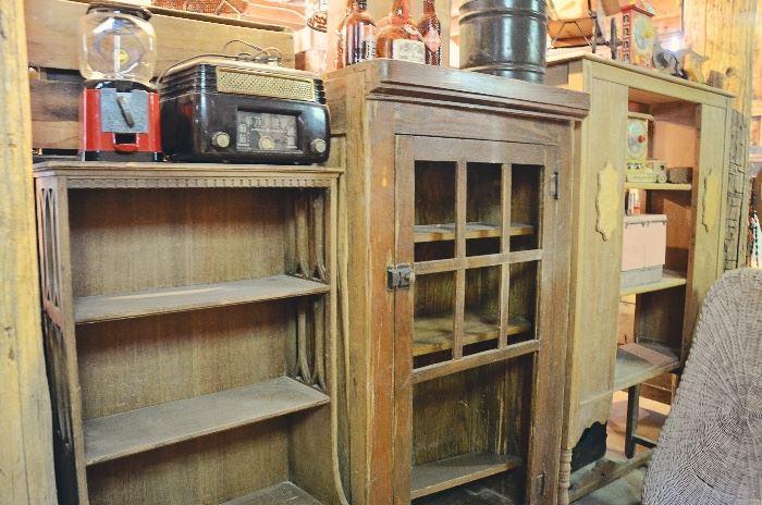 Gumball Machine, Shelving, Primitive Dentist's Medicine Cabinet