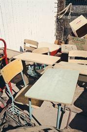 Vintage Student Desks