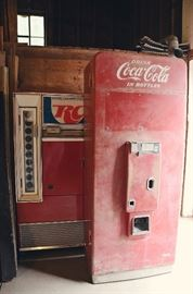RC Cola and 2 Coca-Cola Vending Machines (1 not pictured)