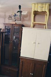Gun Cabinet, Vintage Cabinets, End Table