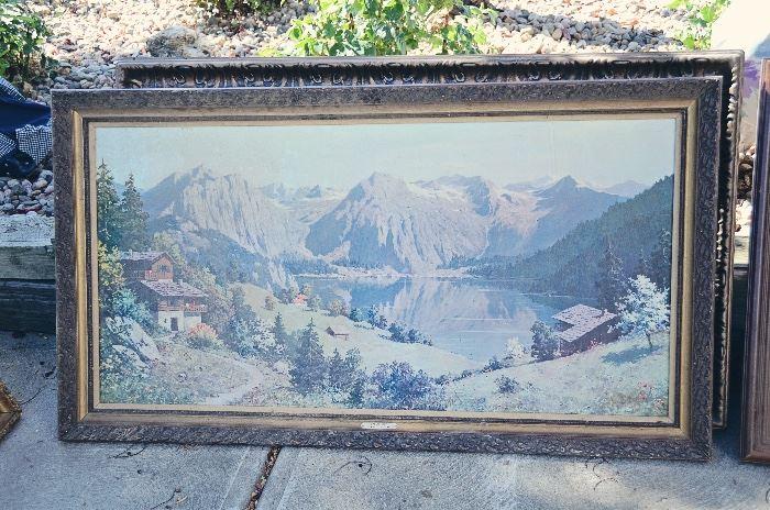 Mountain Scene Print
