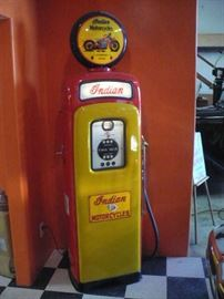 Fully Restored INDIAN MOTOR CYCLES Gas Pump