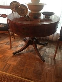 Lovely antique Drum table