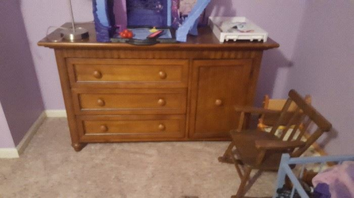 full view of the chest with cabinet door