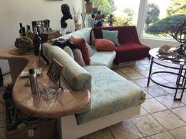 Contemporary sofas & freeform tables