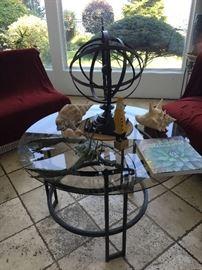 Coffee table, collectibles, home decor