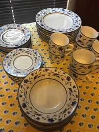 Blue and white dishes