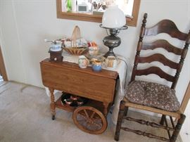 drop leaf table with wheel