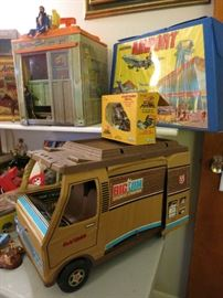 Vintage Big Jim Sports Camper, Vintage Matchbox Airport