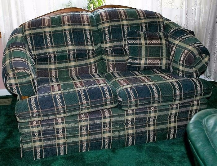Smith Brothers Over Stuffed Matching Settee