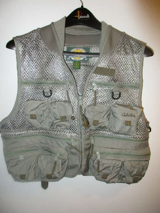 50 off man cave estate sale hunting fishing camping for Cabelas fishing vest