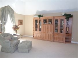 Beautiful Burnehart wall unit entertainment center