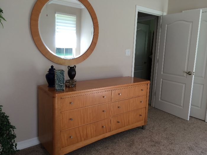 Matching mirror and 6 drawer chest -Ethan Allen mid Century