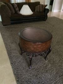 Occasional tables, rugs, pillows, lamps