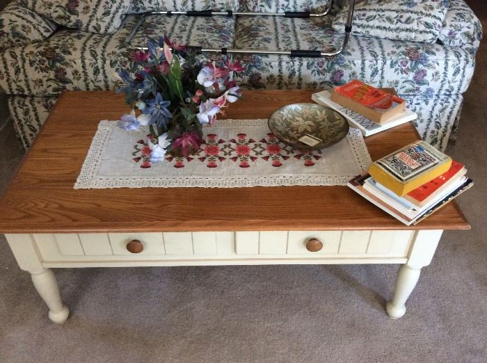 Coffee Table w/ two drawers for storage