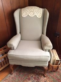 Green wing chair