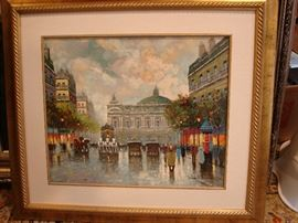"""Oil on canvas signed Antoine Blanchard but it is """"after"""" Blanchard by another artist"""