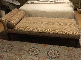 Faux leopard chaise lounge