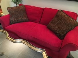 Design Center micro-suede, down-filled sofa- superb!