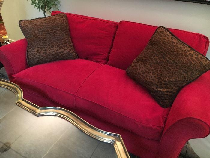 Design Center micro-suede, down-filled sofa- superb!