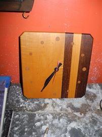 Mid century wooden clock
