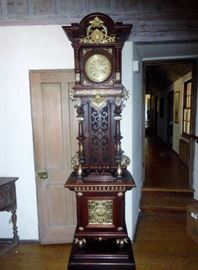 Great 19th century German clock, minor case restotration tic to fab