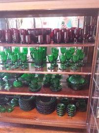 ruby and emerald glassware