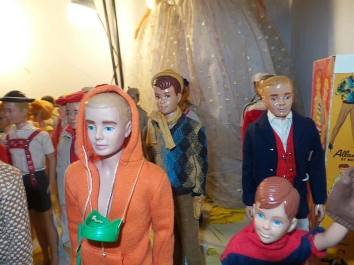 Vintage 1960's Ken Dolls and Ricky Doll