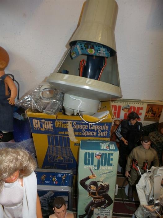 Vintage GI Joe Space Capsule with Space Suit