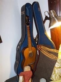 Vintage Ukulele With Case