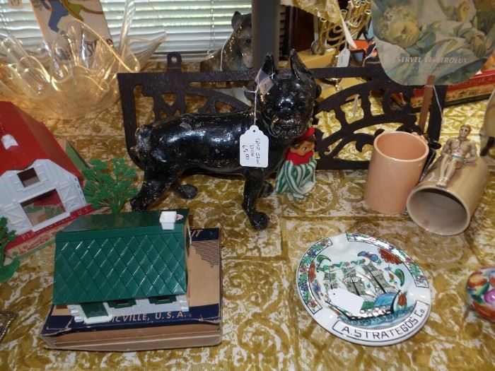 Cast Iron Boston Terrier Door Stop ~ Hubley