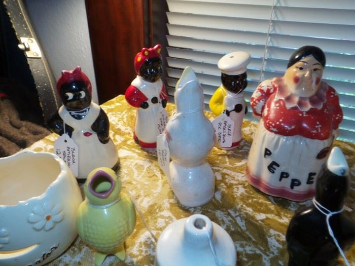 Collection Of Pie Birds ~ African American Salt and Pepper Shakers