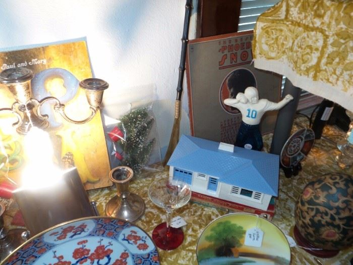 Plasticville Ranch House With Box ~ Vintage Avon Football Player Cologne Bottle