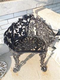 Wrought iron Grape Motif Bench