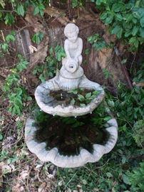 Concrete Cherub Fountain
