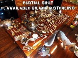 Flatware - sterling and silver plate. Many pieces and hard-to-find patterns.