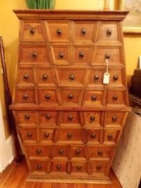 Large and Heavy, Exotic Wood Apothecary Chest.